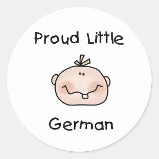 Baby Boy Proud Little German Classic Round Sticker