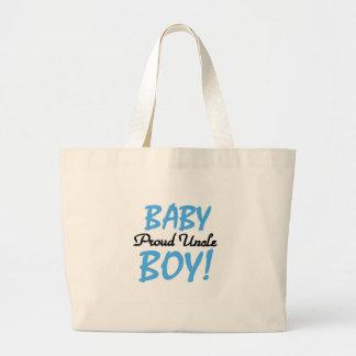 Baby Boy Proud Uncle Jumbo Tote Bag