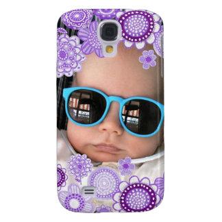 Baby Boy Purple Painted Fine Art Photo Frame Samsung Galaxy S4 Case