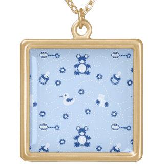 Baby-boy Quilt Pattern Pendant