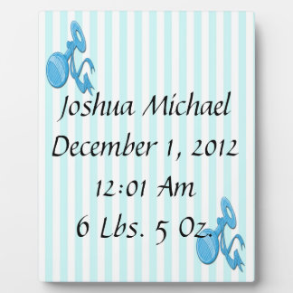 Baby Boy - Rattle Keepsake Plaque With Easel
