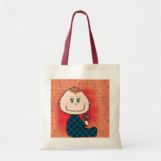 Baby boy red hair and green eyes canvas bag