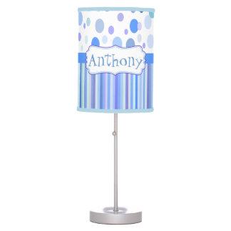 baby boy room monogram desk lamp