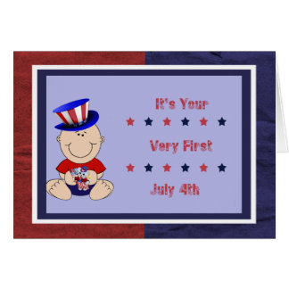 Baby Boy s First 4th of July Greeting Card