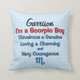 Baby Boy Scorpio Zodiac Personalized Pillow