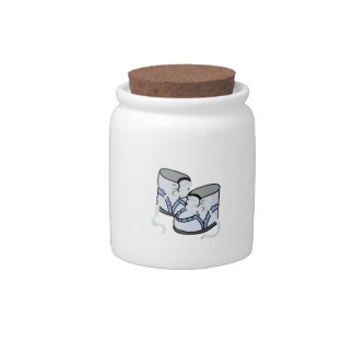 BABY BOY SHOES CANDY JAR