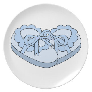 BABY BOY SHOES PARTY PLATE