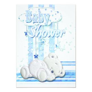 Baby boy shower blue card