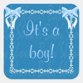 Baby boy shower Blue sticker see description