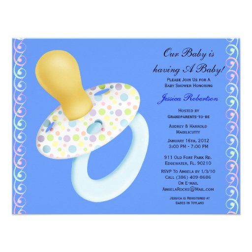 baby boy shower cute baby umbrella with gifts invitations zazzle