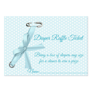 Baby Boy Shower Diaper Raffle Tickets Business Card Templates
