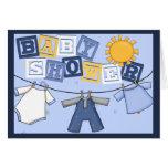 Baby Boy Shower Greeting Card