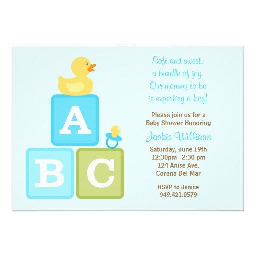 baby boy shower invitation zazzle