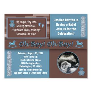 Baby Boy Shower Invitation