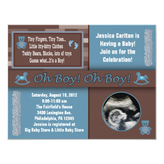 Ultrasound Baby Shower Invitations Announcements Zazzle
