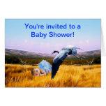 Baby boy shower invitation greeting card