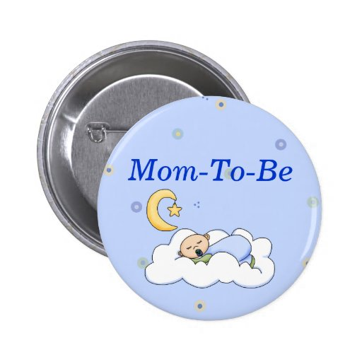 Baby Boy Shower Mommy Pin Button