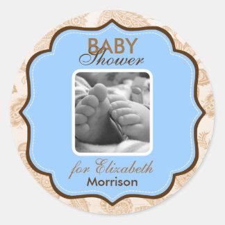 Baby Boy Shower Stickers