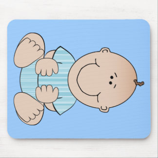 Baby Boy Sitting Mouse Pad