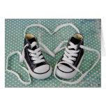 Baby Boy Sneakers Greeting Card