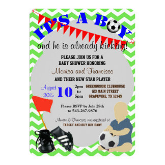 Baby Boy Soccer Baby Shower Invitation