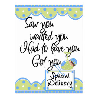 Baby Boy Special Delivery Cards and Stickers