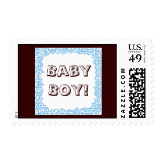 BABY BOY! stamps Blue Brown Baby Shower Boys