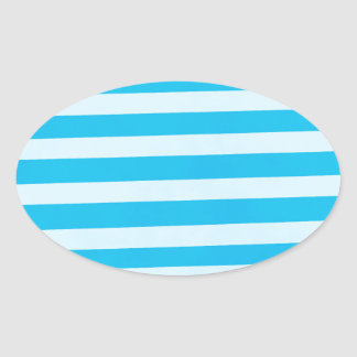 Baby Boy Stripes Oval Sticker