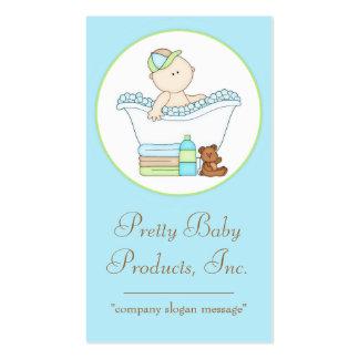 Baby Boy taking a Bath Business Card d2