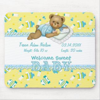 Baby Boy Teddy Bear Mouse Pad