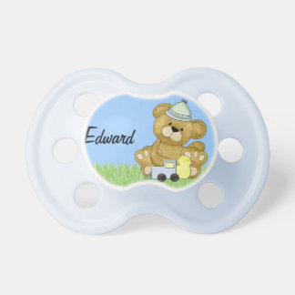 Baby Boy Teddy Bear to Personalize Pacifier