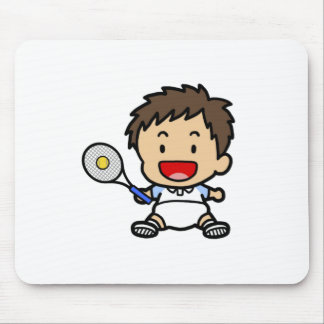 Baby Boy Tennis Player Mousepads