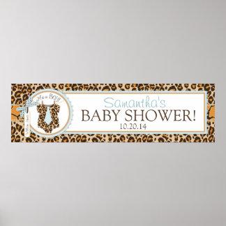 Baby Boy Tie Cheetah Print Baby Shower Banner