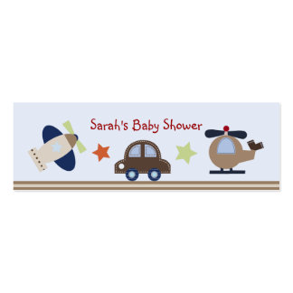 Baby Boy Transportation Favor/Tags Double-Sided Mini Business Cards (Pack Of 20)