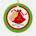 Baby Boy Twins Baby's First Christmas Ornament