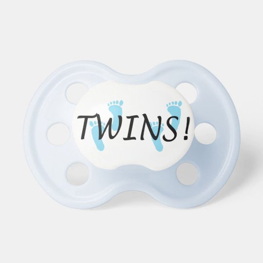 Baby Boy Twins Pacifier