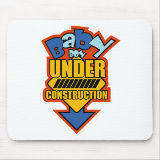 BABY boy UNDER CONSTRUCTION Mouse Mats