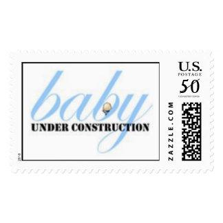 Baby Boy Under Construction Postage