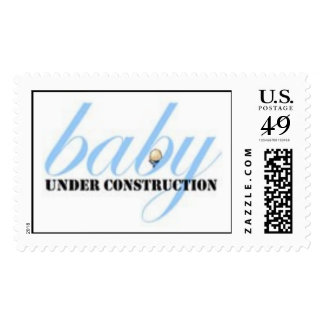 Baby Boy Under Construction Stamp