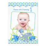 "Baby Boy Under the Sea Cartoon Birthday Invitation 5"" X 7"" Invitation Card"