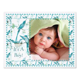 Baby Boy Vintage Baby Bird Picture Announcement