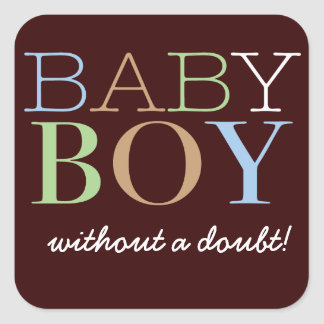 Baby Boy Vote Sticker for Gender Reveal Party