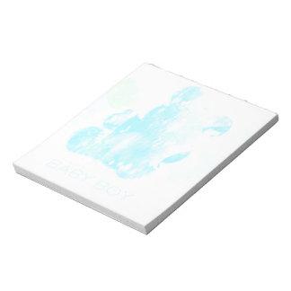 Baby boy, Watercolor Teddy Bear Notepad