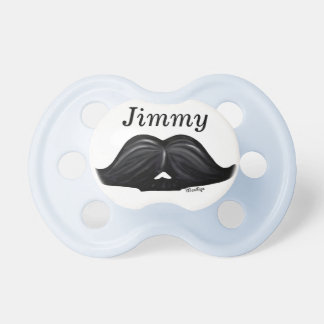 Baby Boy Wax Candy Moustache Design Blue White Baby Pacifiers
