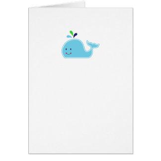 Baby Boy Whale Card