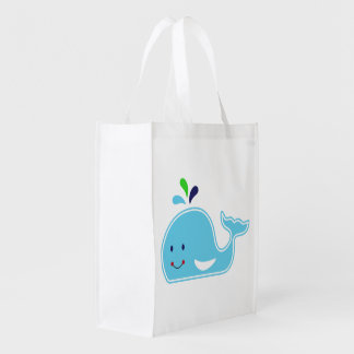 Baby Boy Whale Grocery Bag
