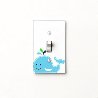 Baby Boy Whale Light Switch Cover
