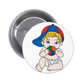 Baby Boy with Ball 2 Inch Round Button