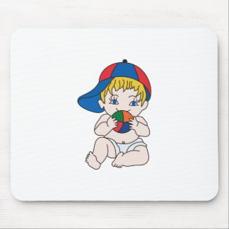 Baby Boy with Ball Mouse Pad
