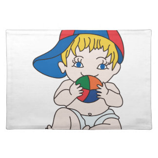 Baby Boy with Ball Cloth Place Mat